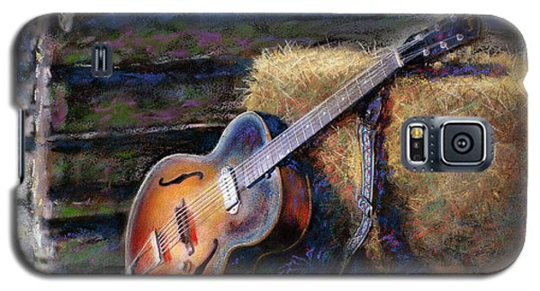 Galaxy S5 Case featuring the painting Jim's Guitar by Andrew King