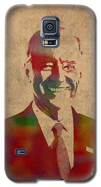 Joe Biden Watercolor Portrait Galaxy S5 Case by Design Turnpike