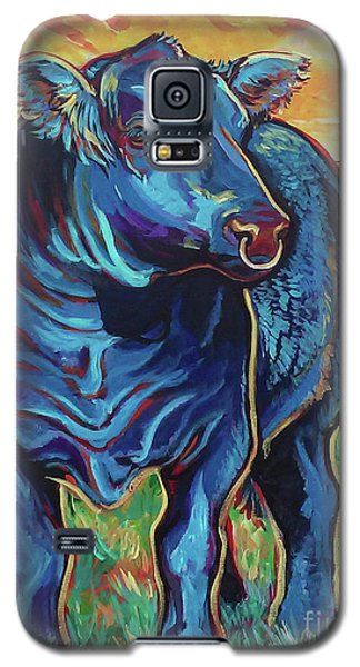 Galaxy S5 Case featuring the painting Joe by Jenn Cunningham