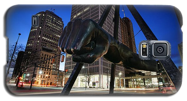 Joe Louis Fist Statue Jefferson And Woodward Ave. Detroit Michigan Galaxy S5 Case