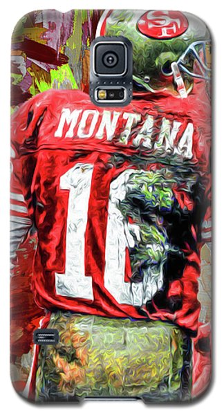 Joe Montana Football Digital Fantasy Painting San Francisco 49ers Galaxy S5 Case by David Haskett