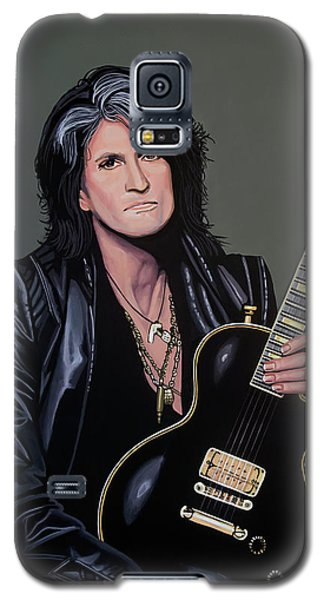 Steven Tyler Galaxy S5 Case - Joe Perry Of Aerosmith Painting by Paul Meijering