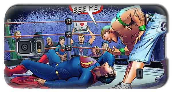 John Cena Vs Superman Galaxy S5 Case by Khaled Alsabouni