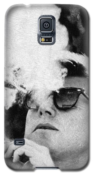 John F Kennedy Cigar And Sunglasses Black And White Galaxy S5 Case