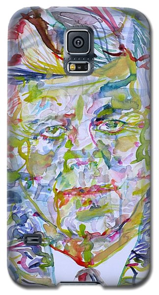 Galaxy S5 Case featuring the painting John F. Kennedy - Watercolor Portrait.2 by Fabrizio Cassetta