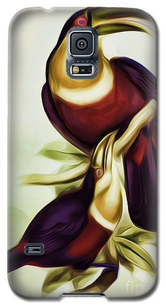 John Gould And Edward Lear Family Of Toucans Interpreted Galaxy S5 Case