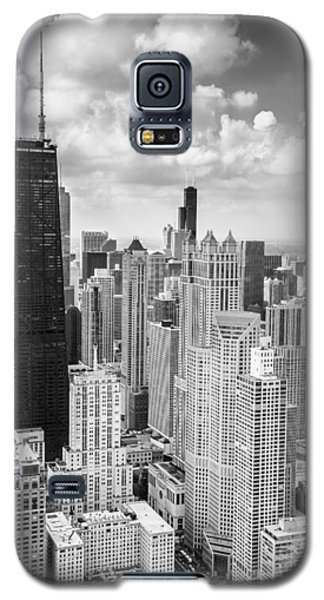 John Hancock Building In The Gold Coast Black And White Galaxy S5 Case by Adam Romanowicz