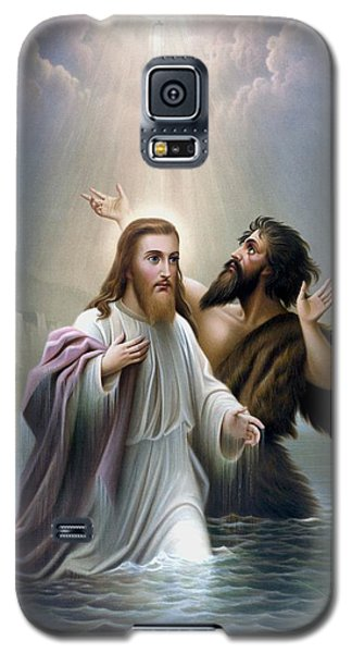 Dove Galaxy S5 Case - John The Baptist Baptizes Jesus Christ by War Is Hell Store