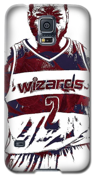 Wizard Galaxy S5 Case - John Wall Washington Wizards Pixel Art 5 by Joe Hamilton