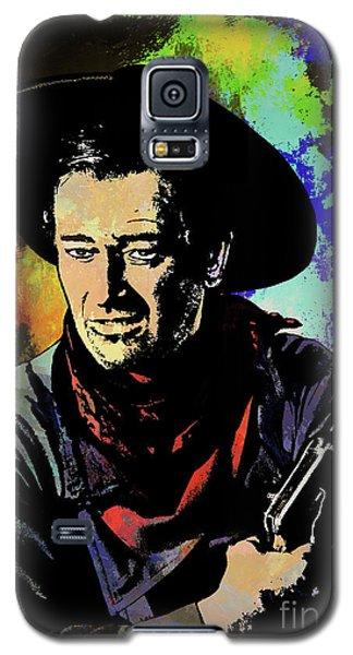 Galaxy S5 Case featuring the painting John Wayne, by Andrzej Szczerski