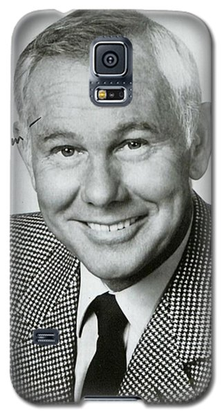 Johnny Carson Galaxy S5 Case - Johnny Carson Autographed Print by Pd