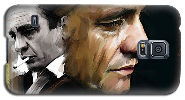 Johnny Cash  Hurt Galaxy S5 Case by Iconic Images Art Gallery David Pucciarelli