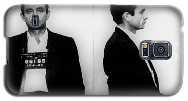 Johnny Cash Mug Shot Horizontal Galaxy S5 Case