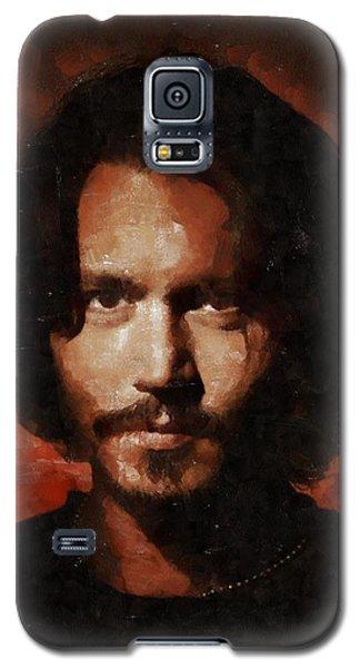 Johnny Depp, Hollywood Legend By Mary Bassett Galaxy S5 Case by Mary Bassett