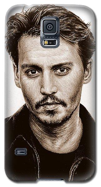Johnny Depp Galaxy S5 Case - Johnny Depp Sepia by Andrew Read