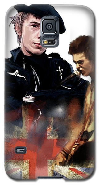 Johnny Rotten And Sid Vicious Revolution In The Head  Galaxy S5 Case by Iconic Images Art Gallery David Pucciarelli