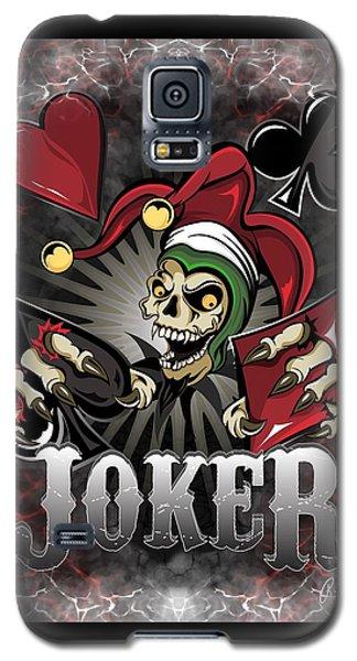 Joker Poker Skull Galaxy S5 Case