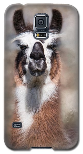 Galaxy S5 Case featuring the photograph Jolly Llama by Robin-Lee Vieira