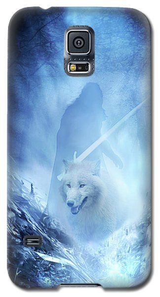 Jon Snow And Ghost - Game Of Thrones Galaxy S5 Case
