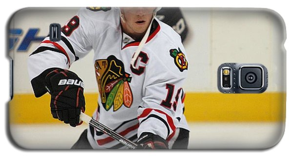 Galaxy S5 Case featuring the photograph Jonathan Toews - Action Shot by Melissa Goodrich