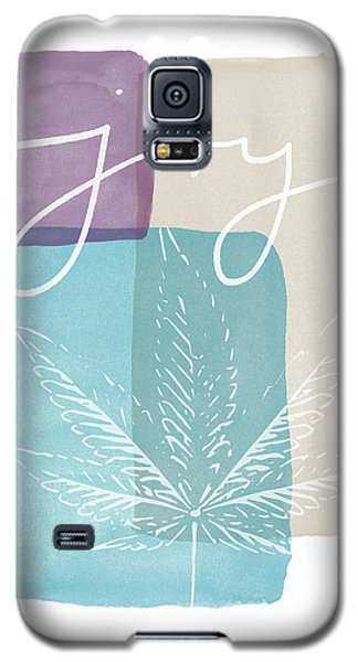 Joy Cannabis Leaf Watercolor- Art By Linda Woods Galaxy S5 Case by Linda Woods