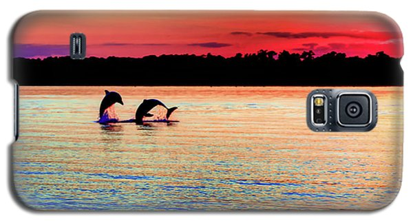 Dolphin Galaxy S5 Case - Joy Of The Dance by Karen Wiles
