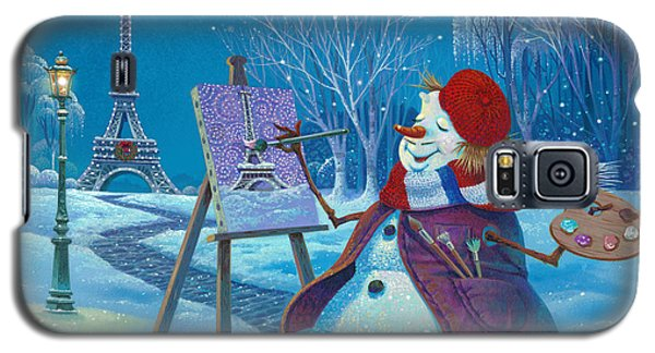 Galaxy S5 Case featuring the painting Joyeux Noel by Michael Humphries