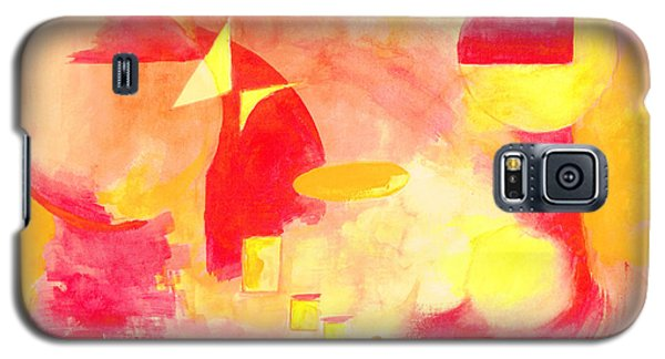 Galaxy S5 Case featuring the painting Joyful Abstract by Andrew Gillette