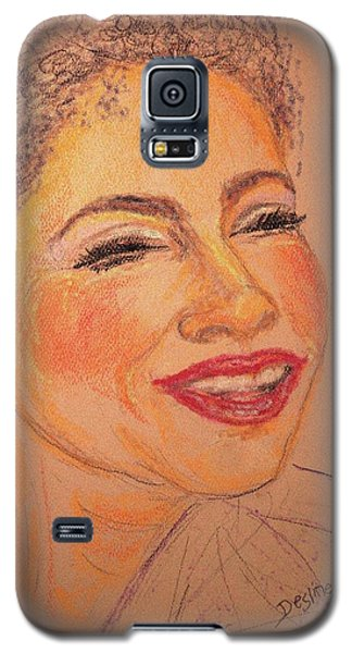 Galaxy S5 Case featuring the drawing Joyful by Desline Vitto