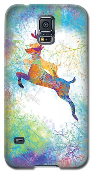 Galaxy S5 Case featuring the digital art Joyful Leaps by Trilby Cole