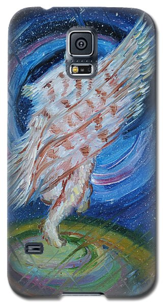 Galaxy S5 Case featuring the painting Joyfully My Father Comes To See Me by Dawn Senior-Trask