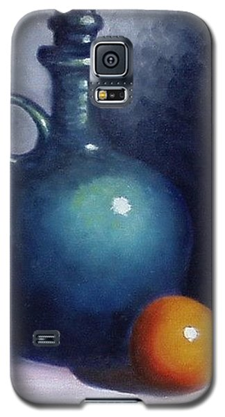 Galaxy S5 Case featuring the painting Jug And Orange. by Gene Gregory