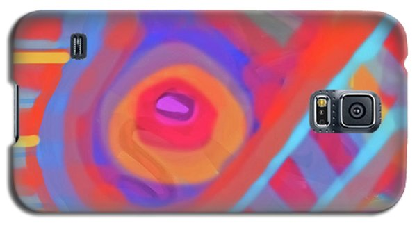 Galaxy S5 Case featuring the painting Juicy Colored Abstract by Susan Stone