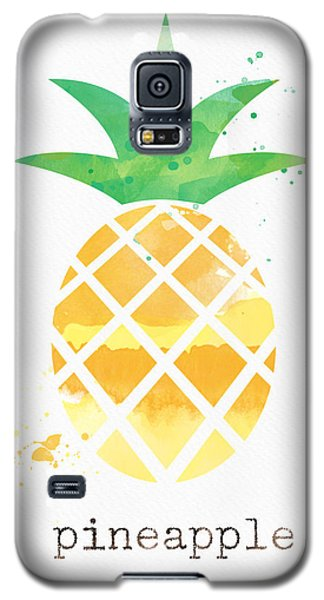 Fruits Galaxy S5 Case - Juicy Pineapple by Linda Woods