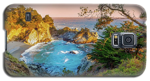 Galaxy S5 Case featuring the photograph Julia Pfeiffer Burns State Park Mcway Falls by Scott McGuire