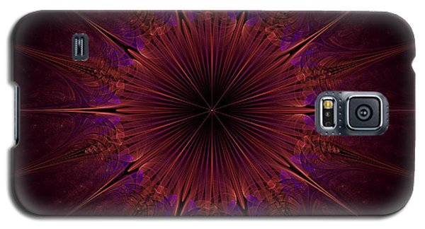 The Violet Blessings Of The Crown Chakra Galaxy S5 Case by Ernst Dittmar