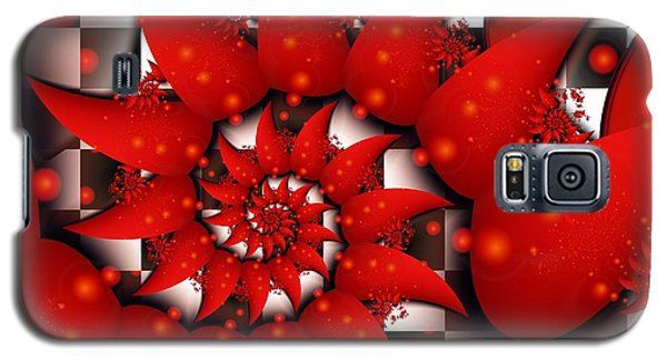 Galaxy S5 Case featuring the digital art Julias Summer Red by Michelle H