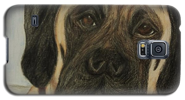 Galaxy S5 Case featuring the drawing Julie's Dog Lounging by Christy Saunders Church