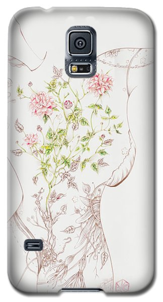 Galaxy S5 Case featuring the drawing Juliette-sold by Karen Robey