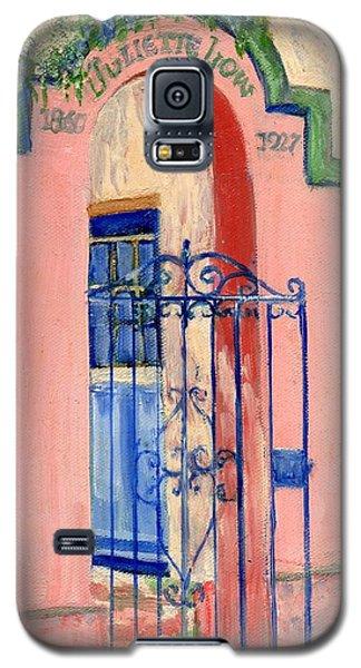Juliette Low Garden Gate Savannah Galaxy S5 Case by Doris Blessington