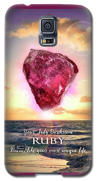 July Birthstone Ruby Galaxy S5 Case