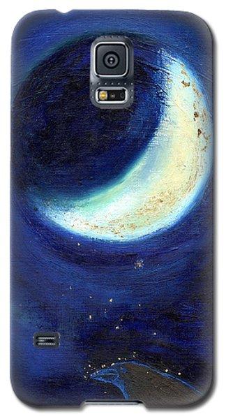 July Moon Galaxy S5 Case by Nancy Moniz