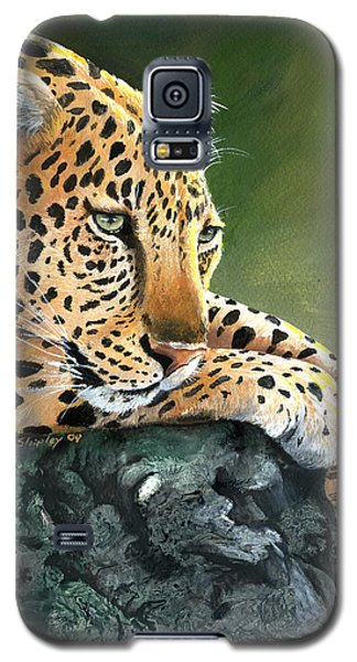Galaxy S5 Case featuring the painting Jumanji by Sherry Shipley