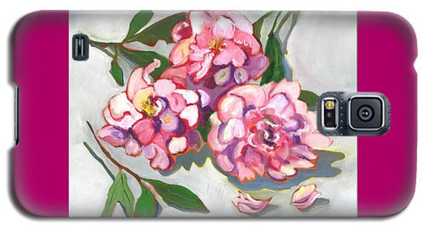 Galaxy S5 Case featuring the painting June Peonies by Susan Thomas