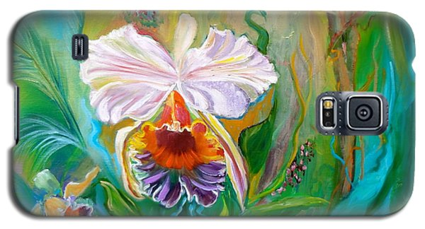 Jungle Orchid Galaxy S5 Case by Jenny Lee