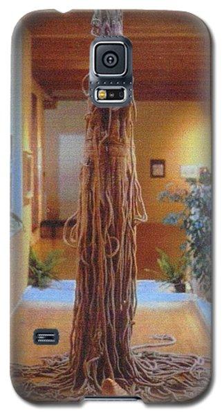 Galaxy S5 Case featuring the sculpture Jungle Spirit by Bernard Goodman