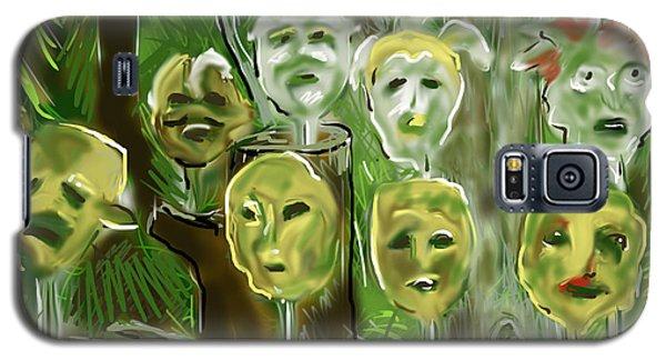 Galaxy S5 Case featuring the digital art Jungle Spirits by Jean Pacheco Ravinski