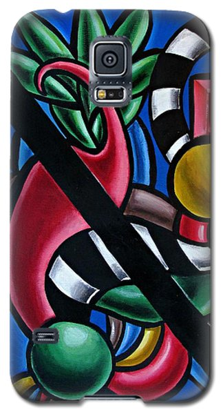 Jungle Stripes 1 - Abstract Art Painting - Ai P. Nilson Galaxy S5 Case