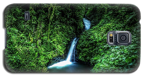 Galaxy S5 Case featuring the photograph Jungle Waterfall by Nicklas Gustafsson