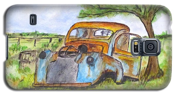 Junk Car And Tree Galaxy S5 Case